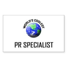 World's Coolest PR SPECIALIST Sticker (Rectangular