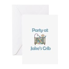 Party at Jake's Crib Greeting Cards (Pk of 10)