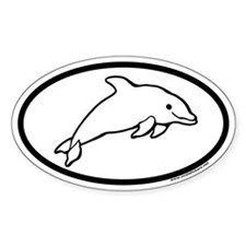 Dolphin Oval Decal