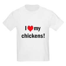 heart my chickens T-Shirt