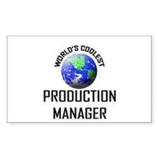 World's Coolest PRODUCTION MANAGER Decal