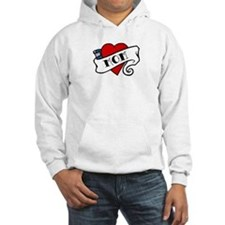 I Love Mom (tattoo style) Hoodie