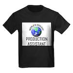 World's Coolest PRODUCTION ASSISTANT Kids Dark T-S