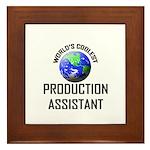 World's Coolest PRODUCTION ASSISTANT Framed Tile
