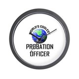 World's Coolest PROBATION OFFICER Wall Clock