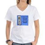 i did NOT have TEXTUAL relations Women's V-Neck T-