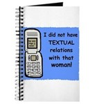 i did NOT have TEXTUAL relations Journal