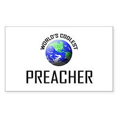 World's Coolest PREACHER Rectangle Sticker