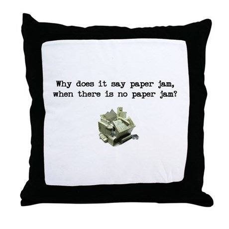 Paper Jam Throw Pillow