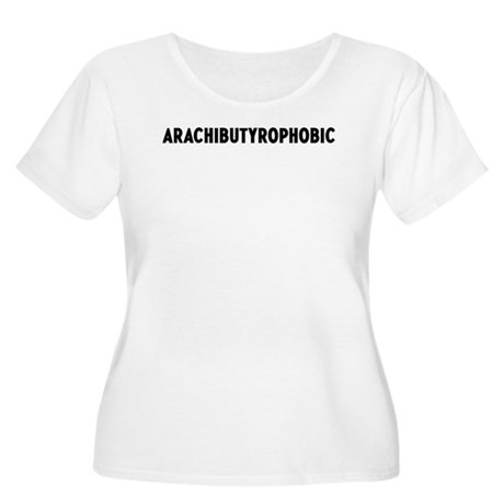 arachibutyrophobic Women's Plus Size Scoop Neck T-