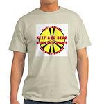 Peace Through Nuclear Weapons Ash Grey T-Shirt
