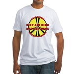 Peace Through Nuclear Weapons Fitted T-Shirt