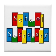 School Secretary Tile Coaster