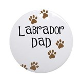 Labrador Dad Ornament (Round)