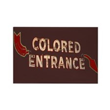 Old Segregation Sign Rectangle Magnet