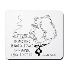 Cigar Smoker Mark Twain Quote Mousepad
