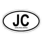 "Johns Creek ""JC"" Oval Decal"