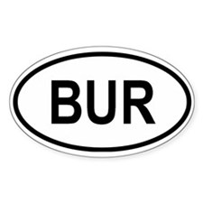 Burma Oval Decal