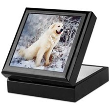 "Great Pyrenees Keepsake Box ""WinterWood"""