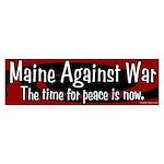 Maine Against War bumper sticker