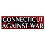 Connecticut Against War Bumper Sticker