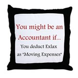 Accountant Throw Pillow