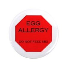 "Stop! Egg Allergy 3.5"" Button"