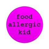 "Food Allergy 3.5"" Button"