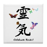 Celebrate Reiki Tile Coaster