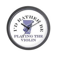 I'd Rather Be Playing Violin Wall Clock