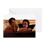 Nubian Cherubs Greeting Cards (Pk of 10)