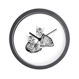 Savannah kittens Wall Clock