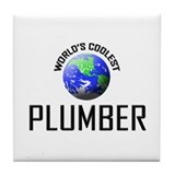 World's Coolest PLUMBER Tile Coaster