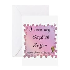 English Setter Shopping Greeting Card