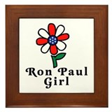 Ron Paul Girl Framed Tile