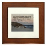 Cute Third step prayer Framed Tile