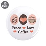 Peace Love Coffee Lovers 3.5