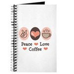 Peace Love Coffee Lovers Journal