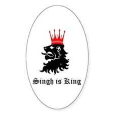 Singh is King Oval Decal