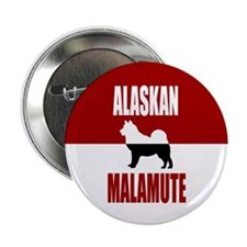 "Alaskan Malamute 2.25"" Button (100 pack)"