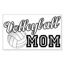 Volleyball Mom 2 Rectangle Decal