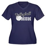 Volleyball Mom 2 Women's Plus Size V-Neck Dark T-S