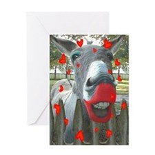 VALENTINE KISS Greeting Card