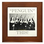 Penguin This Framed Tile