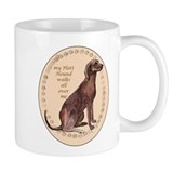 plott hound walks Small Mugs
