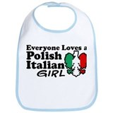 Polish Italian Girl Bib