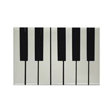 Piano Keyed Rectangle Magnet
