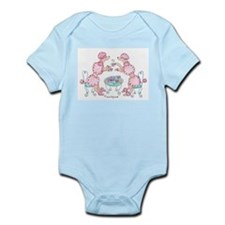 Adorable Pink Poodles Tea Party  Infant Creeper