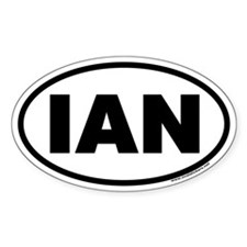 IAN Oval Decal
