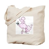 Tea Cup French Pink Poodle Tote Bag